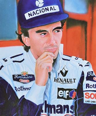Ayrton Senna (aérographe acrylique)