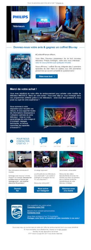 Emailing PhilipsTV BtoC