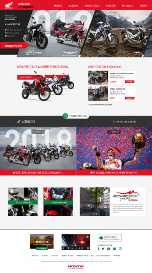 HomePage Concessionnaire Honda Moto