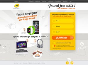 Jeu Concours Colis Desktop Step1