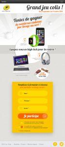Jeu Concours Colis Tablette Verticale Step1