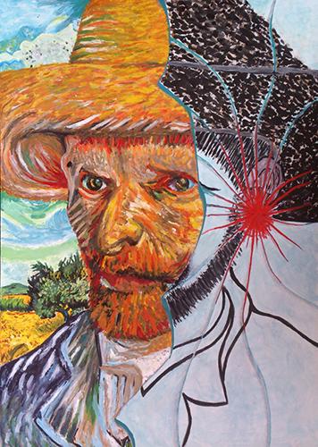Hommage Van Gogh (gouache)