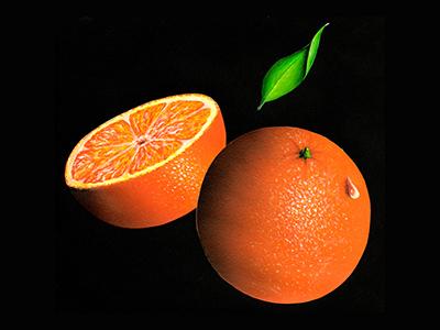 Oranges (aérographe acrylique)